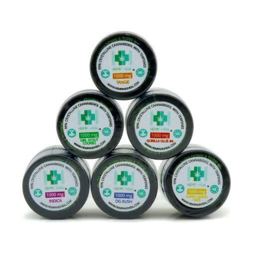 Hemp & Heal Concentrate Terpene Infused 99.9% Crystalline Cannabidiol - Girl Scout Cookies