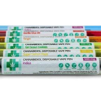 Hemp & Heal Disposable Terpene Infused 500mg Vape Pen Tangie