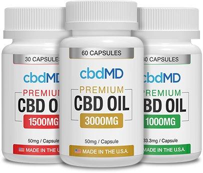 cbdMD OIL CAPSULES - ZERO THC