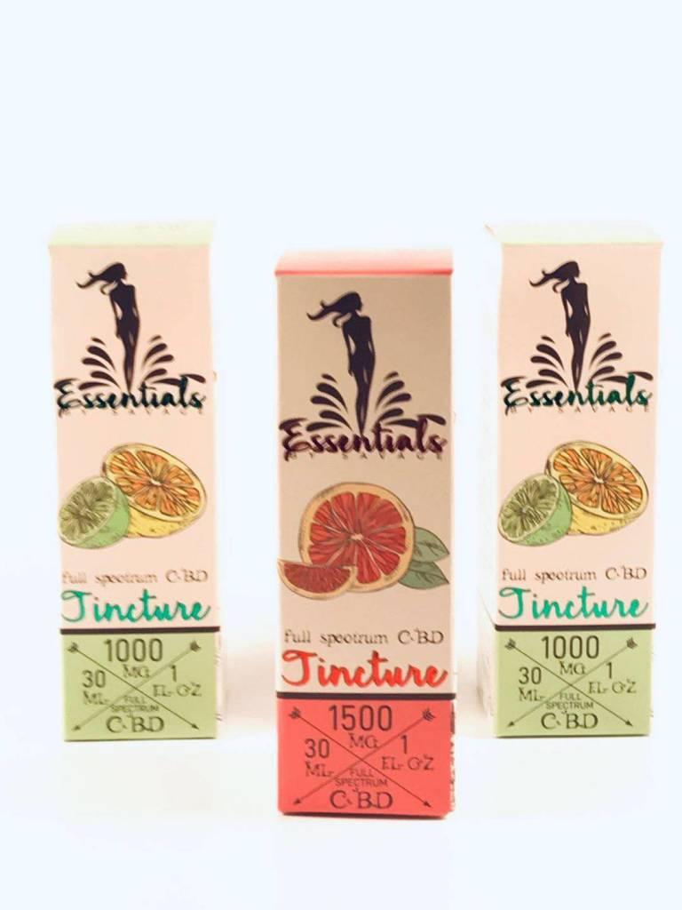 Savage Tincture Essentials Full Spectrum 1000mg Lemon Lime