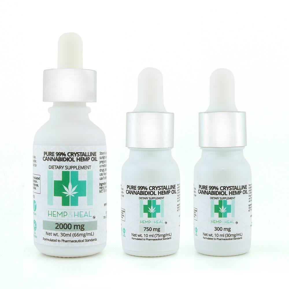 Hemp & Heal Tincture Drops Isolate 300mg
