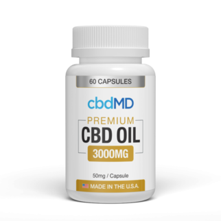 cbdMD CBD OIL CAPSULES | 3000mg | 60 COUNT