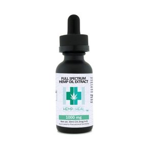 Hemp & Heal Tincture Drops Full Spectrum CBD 1000mg 30ml Bottle