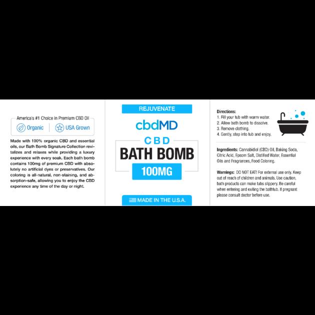 cbdMD cbdMD BATH BOMB | REJUVENATE  (EUCALYPTUS)
