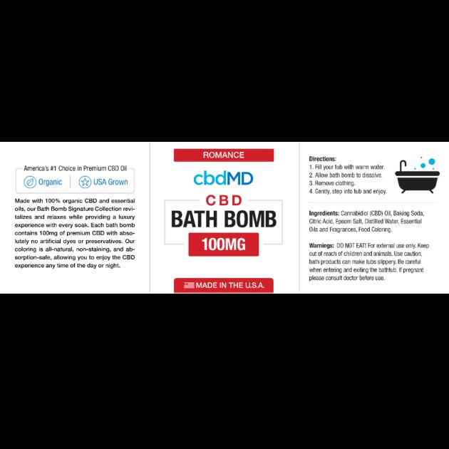 cbdMD cbdMD BATH BOMB | ROMANCE (FRANKINCENSE)