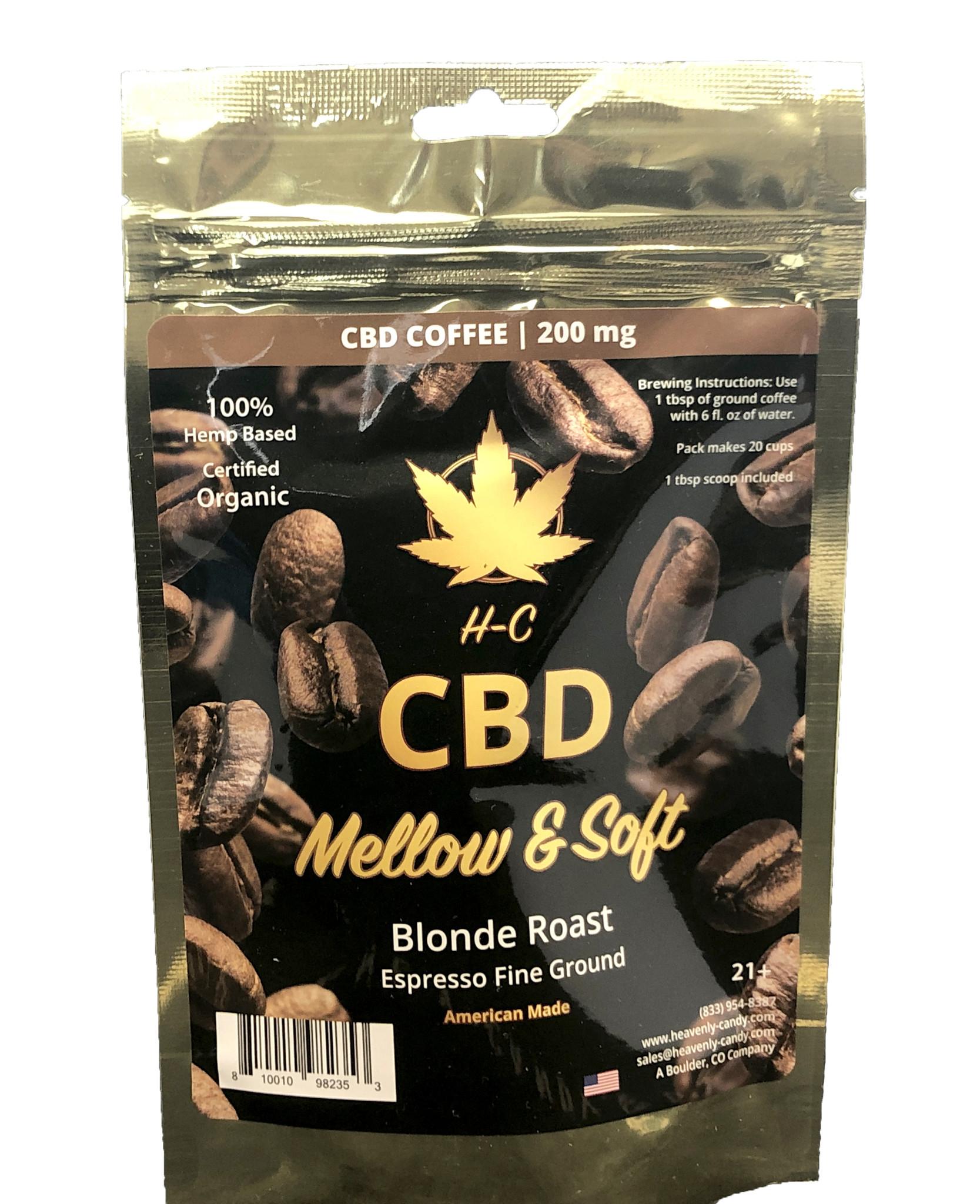 Heavenly Candy CBD COFFEE   MELLOW & SOFT   BLONDE ROAST   200mg