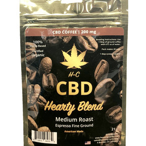 Heavenly Candy CBD COFFEE | HEARTY BLEND | MEDIUM ROAST | 200mg