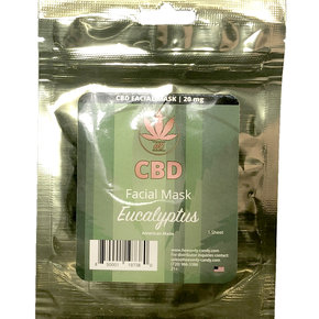 Heavenly Candy CBD FACIAL MASK | EUCALYPTUS | 20mg | 1 SHEET