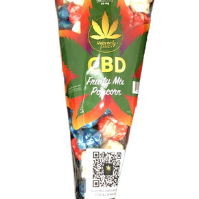 Heavenly Candy CBD POPCORN | MIXED FRUIT | 50mg | 6 Cups