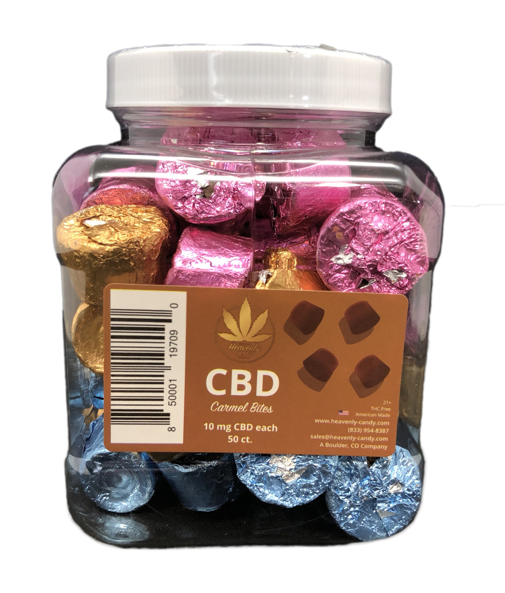 Heavenly Candy CHOCOLATE CARAMEL BITES | 10mg per PIECE | 50 PIECES