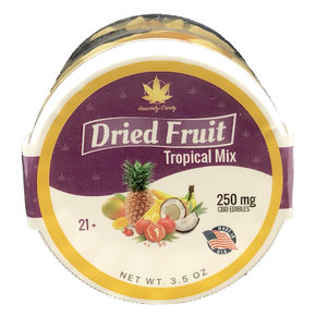 Heavenly Candy CBD DRIED FRUIT | TROPICAL MIX | 250mg | 3.5 Oz.