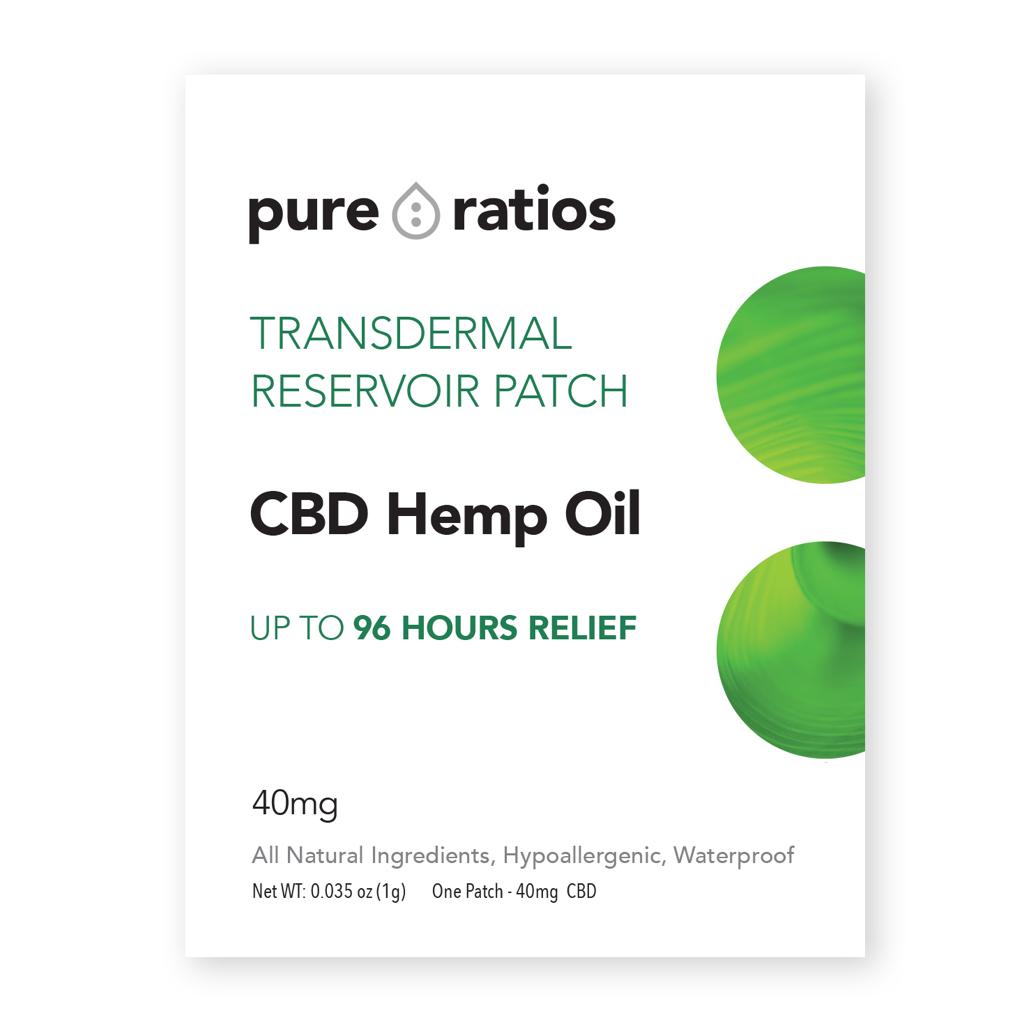 Pure Ratios CBD TOPICAL | HEMP PAIN PATCH | 40mg per PATCH