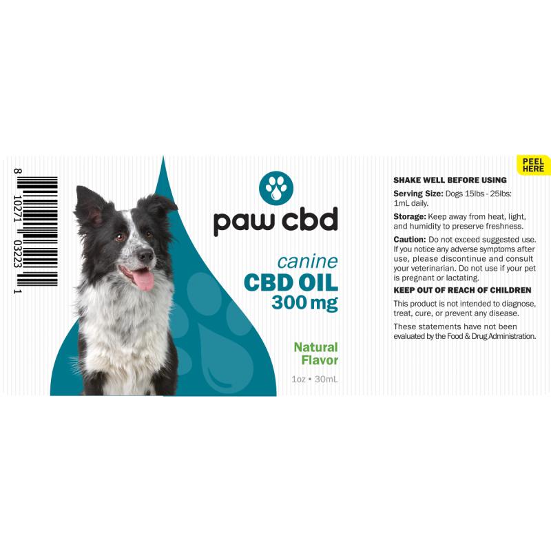cbdMD CBD DOG TINCTURE | 300MG | NATURAL | 30ml BOTTLE