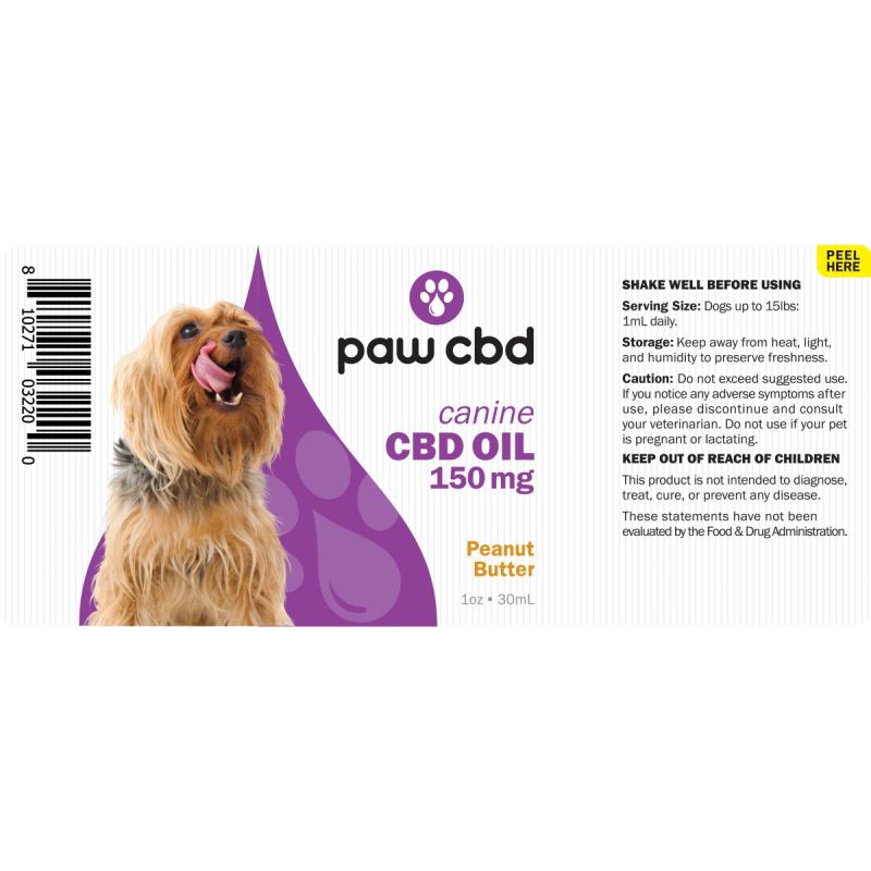 cbdMD CBD DOG TINCTURE | 150MG | PEANUT BUTTER | 30ml BOTTLE