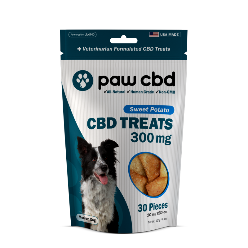cbdMD CBD DOG TREATS | 300MG | SWEET POTATO | 30 PIECES