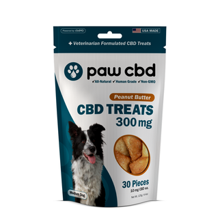 cbdMD CBD DOG TREATS | 300MG | PEANUT BUTTER | 30 PIECES