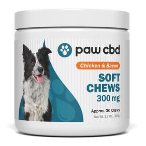 cbdMD PAW CBD DOG SOFT CHEWS | 300mg | Chicken & Bacon | 30ct