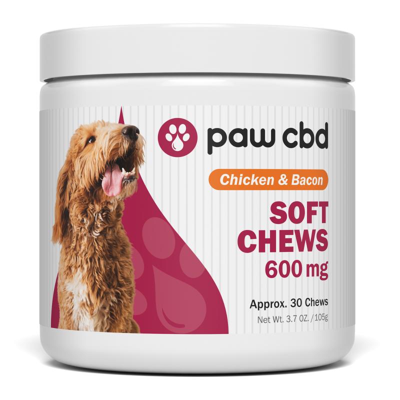 cbdMD PAW CBD DOG SOFT CHEWS | 600mg | Chicken & Bacon | 30ct