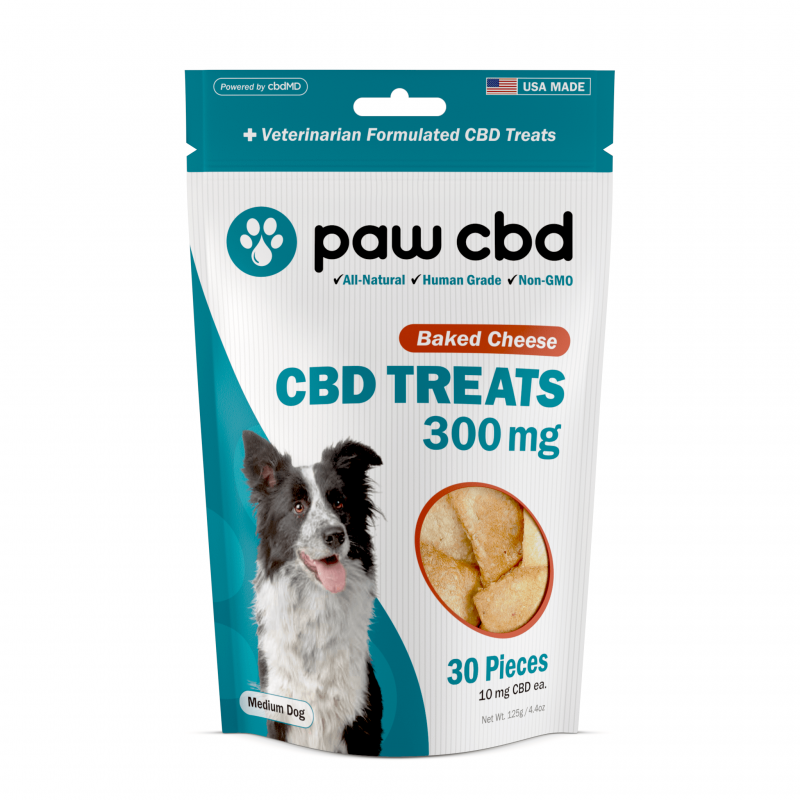 cbdMD CBD DOG TREATS | 300MG | BAKED CHEESE | 30 PIECES