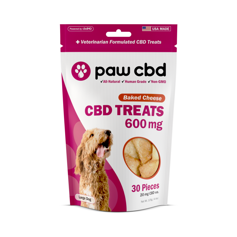 cbdMD CBD DOG TREATS | 600MG | BAKED CHEESE | 30 PIECES