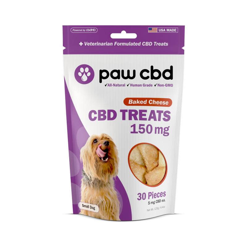 cbdMD CBD DOG TREATS | 150MG | BAKED CHEESE | 30 PIECES