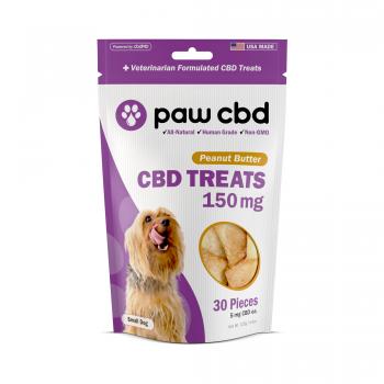 cbdMD CBD DOG TREATS   150MG   PEANUT BUTTER   30 PIECES