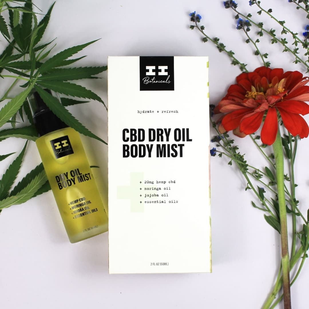 I & I Botanicals CBD DRY OIL BODY MIST