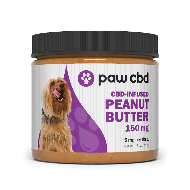 cbdMD CBD DOG PEANUT BUTTER SPREAD | 150MG | 16oz  JAR
