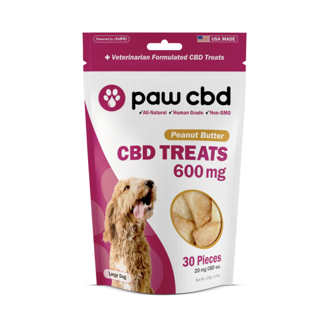 cbdMD CBD DOG TREATS | 600MG | PEANUT BUTTER | 30 PIECES