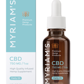 Myriam's Hemp | CBD OIL TINCTURE | DAILY 25 | 750mg | 30ml BOTTLE |