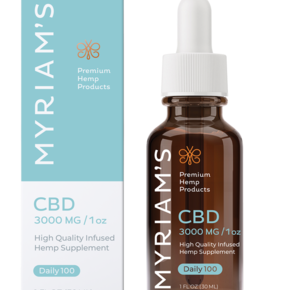 Myriam's Hope | CBD OIL TINCTURE | DAILY 100 | 3000mg | 30ml BOTTLE |