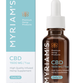 Myriam's Hemp | CBD OIL TINCTURE | DAILY 50 | 1500mg | 30ml BOTTLE |