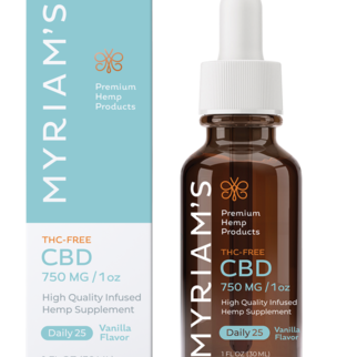Myriam's Hemp | CBD OIL TINCTURE | DAILY 25 | 750mg | THC FREE | 30ml BOTTLE |