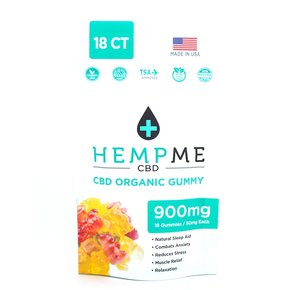 HempMe GUMMY BEARS | ORGANIC | 900mg | 50mg Per Piece | 18 COUNT