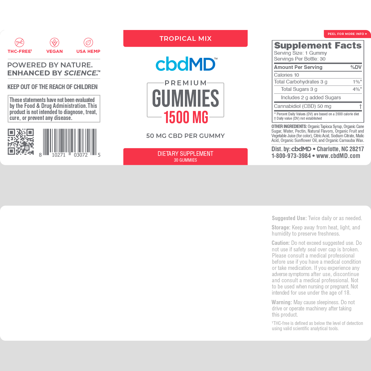 cbdMD cbdMD GUMMIES | 300mg to 1500mg | 3 LEVELS |