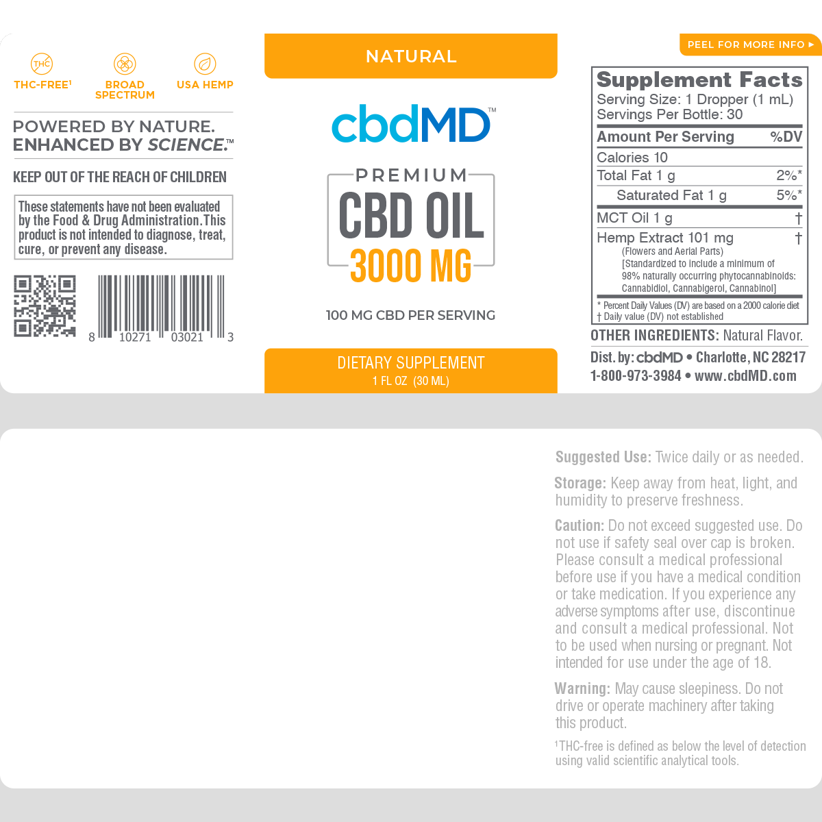 cbdMD | cbdMD ORAL TINCTURES | 3000mg | 4 FLAVORS |