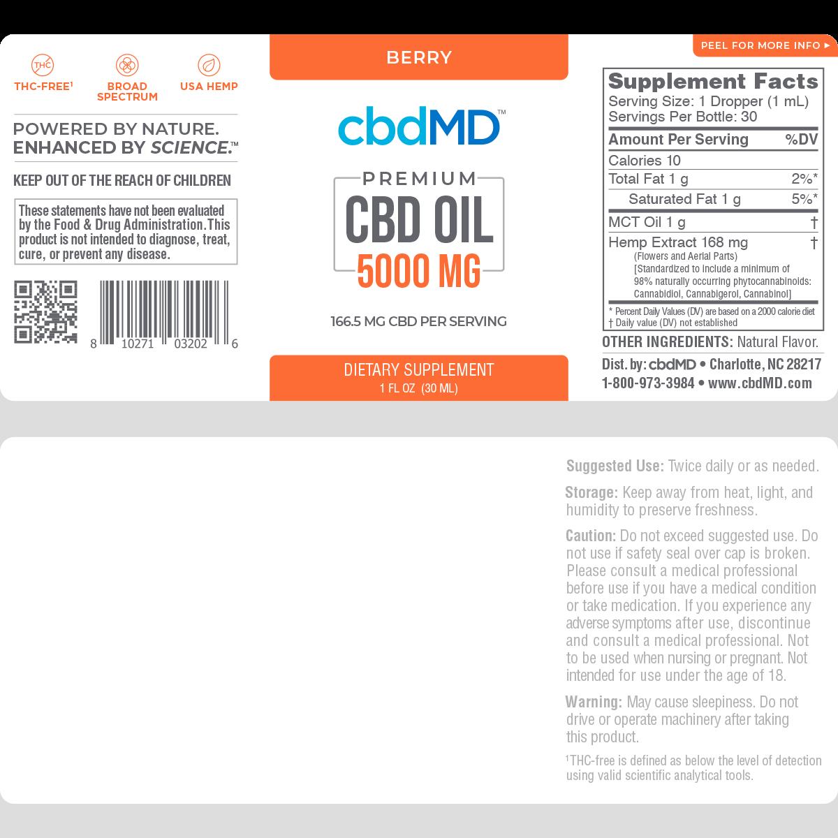 cbdMD | cbdMD ORAL TINCTURES | 5000mg | 2 FLAVORS |