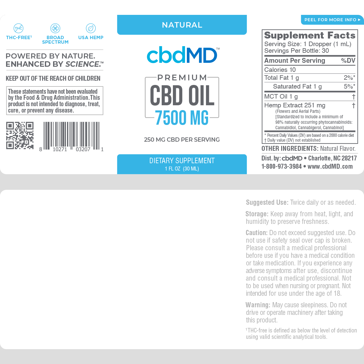cbdMD | cbdMD ORAL TINCTURES | 7500mg | 2 FLAVORS |