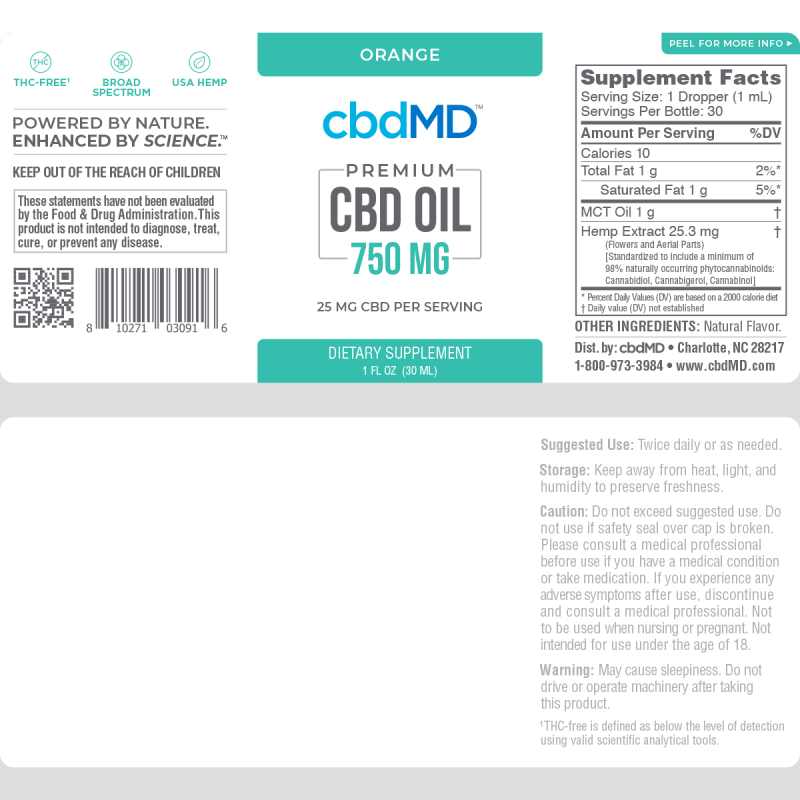 cbdMD | cbdMD ORAL TINCTURES | 750mg | 4 FLAVORS |