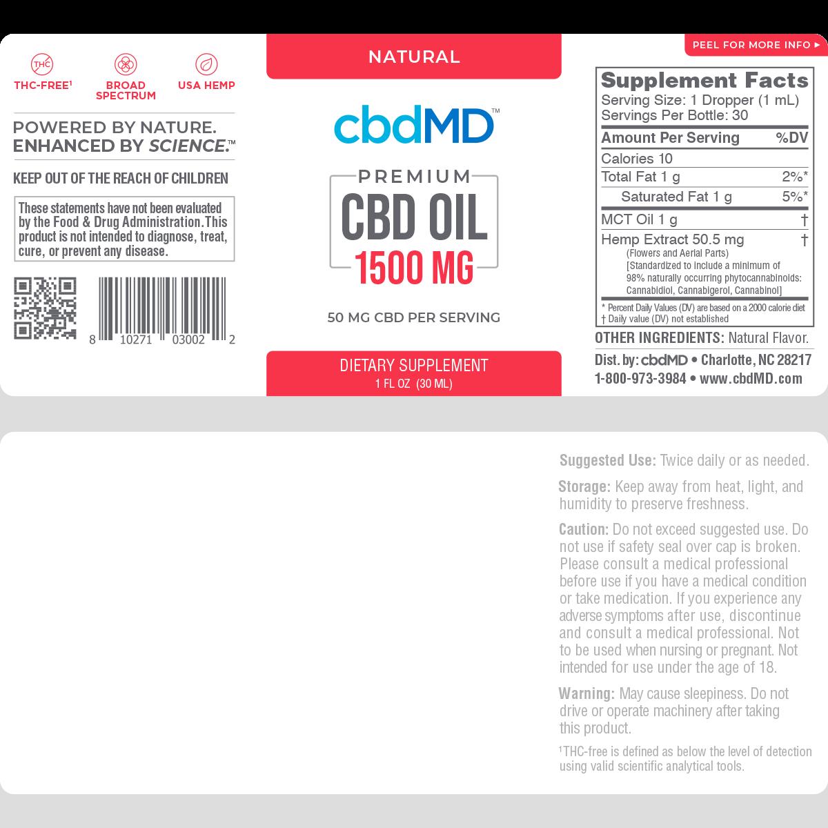 cbdMD | cbdMD ORAL TINCTURES | 1500mg | 4 FLAVORS |