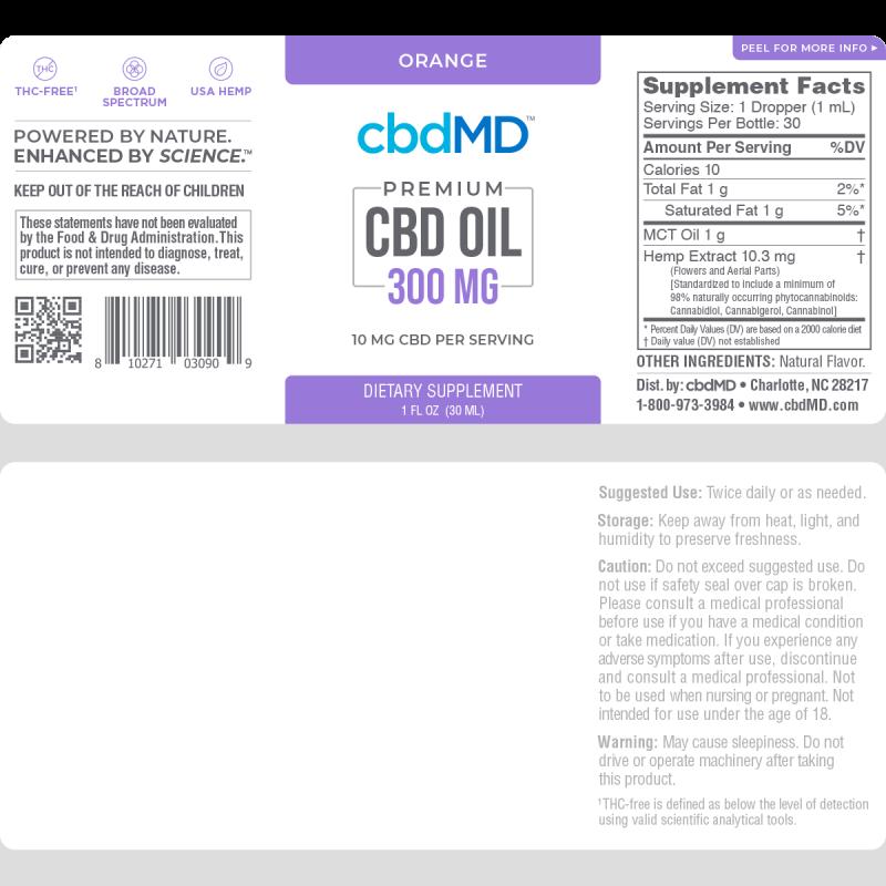cbdMD | cbdMD ORAL TINCTURES | 300mg | 4 FLAVORS |