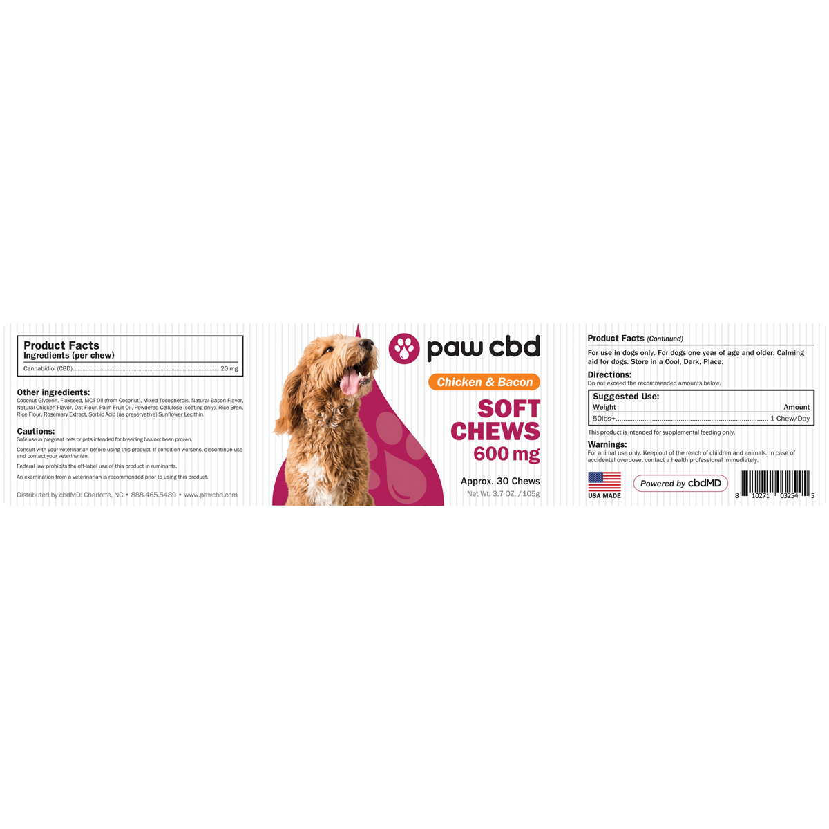 cbdMD | PAW CBD SOFT CHEWS FOR DOGS | 3 LEVELS |