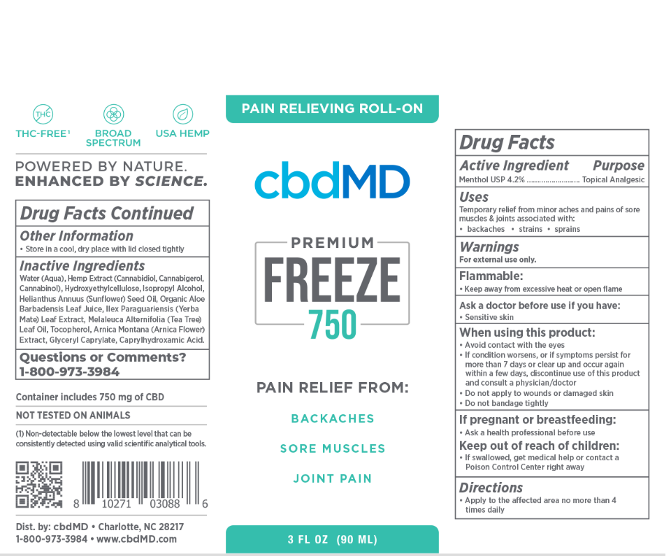 cbdMD | cbdMD FREEZE PAIN RELIEF | ROLLERS & SQUEEZE TUBES | 4 LEVELS |
