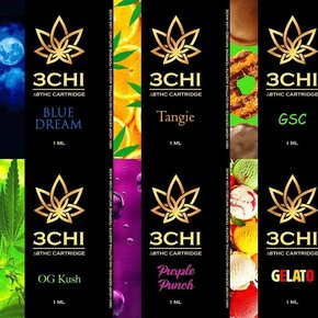 3 CHi 3 CHI |DELTA 8 HEMP CBD CARTRIDGES | MANY STRAINS | 1ml
