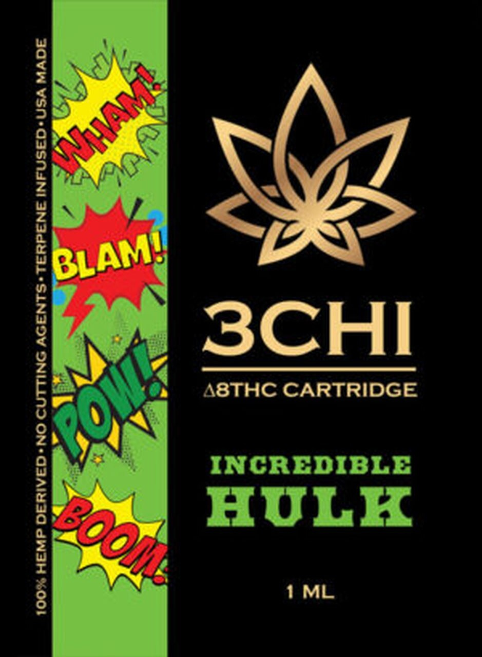 3 CHi 3 CHI |DELTA 8 HEMP CBD CARTRIDGES | MANY STRAINS | 1ml