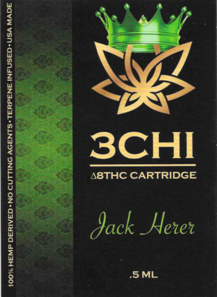 3 CHi 3 CHI |DELTA 8 HEMP CBD CARTRIDGES | MANY STRAINS | 0.5ml