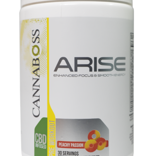 Cannaboss | ARISE PRE-WORKOUT CBD POWDER | PEACHY PASSION |