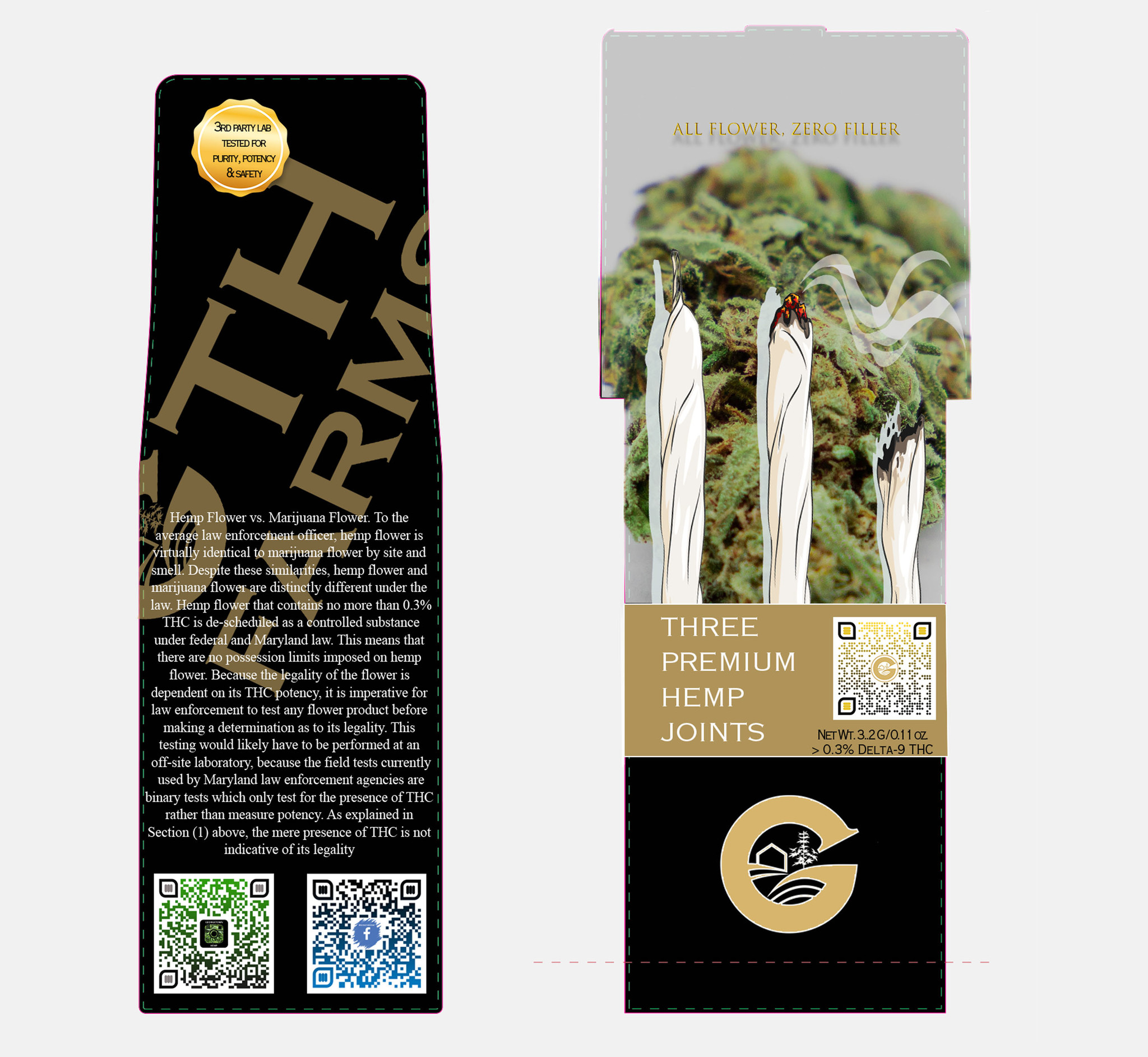 Georgetown Hemp | EXCLUSIVE | GTH FARMS | THE G-PACK | 3-PACK | MAD SCIENTIST (MS) 22.8% |