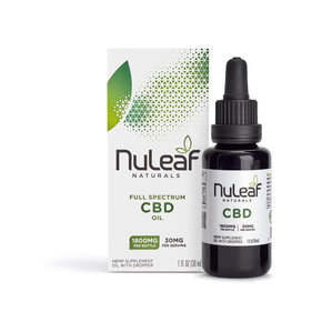 NuLeaf Naturals FULL SPECTRUM CBD OIL | HIGH GRADE HEMP EXTRACT | 1800mg | 60mg per ml | 30ml Bottle
