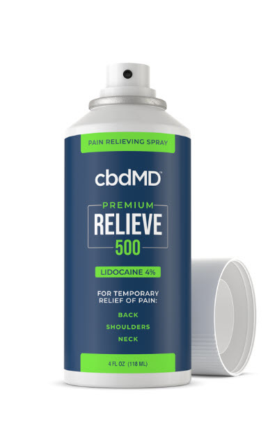 cbdMD | cbdMD RELIEVE PAIN RELIEF W/ LIDOCAINE | SPRAY-ON & ROLLERS | 3 LEVELS |